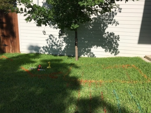 Sewer Line Rerouted for Swimming Pool Near Fort Worth, Texas,